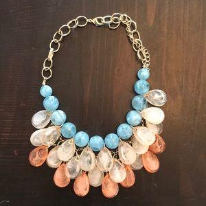 Jewelry - Teal/peach/cream necklace